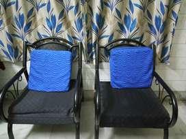 wrought Iron sofa set. Seating capacity of 5.Around 10 years old.