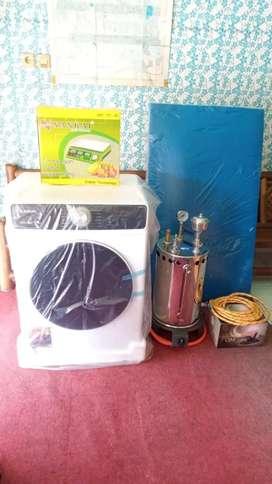 Mesin pengering pakaian,setrika uap,servis,paketan laundry,meja,