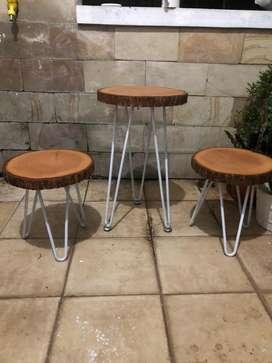 1 Set Meja Cafe / Coffee Table / Meja Makan / Tempat Pot