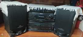 Audio cassette player with radio