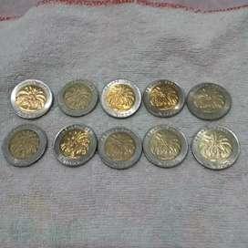 Uang Logam Rp. 1000,- Kelapa Sawit
