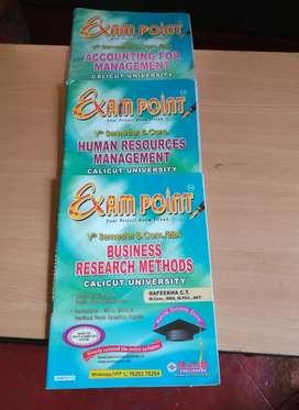 Exam point for B. COM and. BBA calicut University