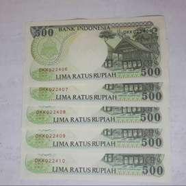 Uang Kertas Kuno 500