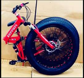 New 21 Gear Fat Foldable Bicycles In All Colours