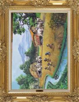 Lukisan panen Acrylic on canvas uk.60 X 80cm