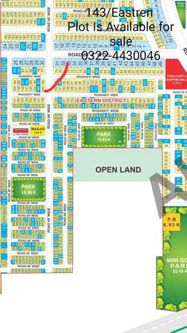 143/Eastren Plot Is Available For Sale In Bahria orchard LHR