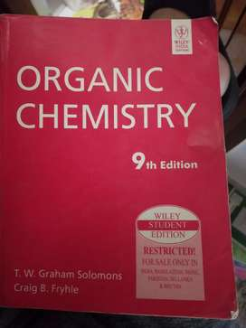 Organic chemistry by Solomons and fryhle