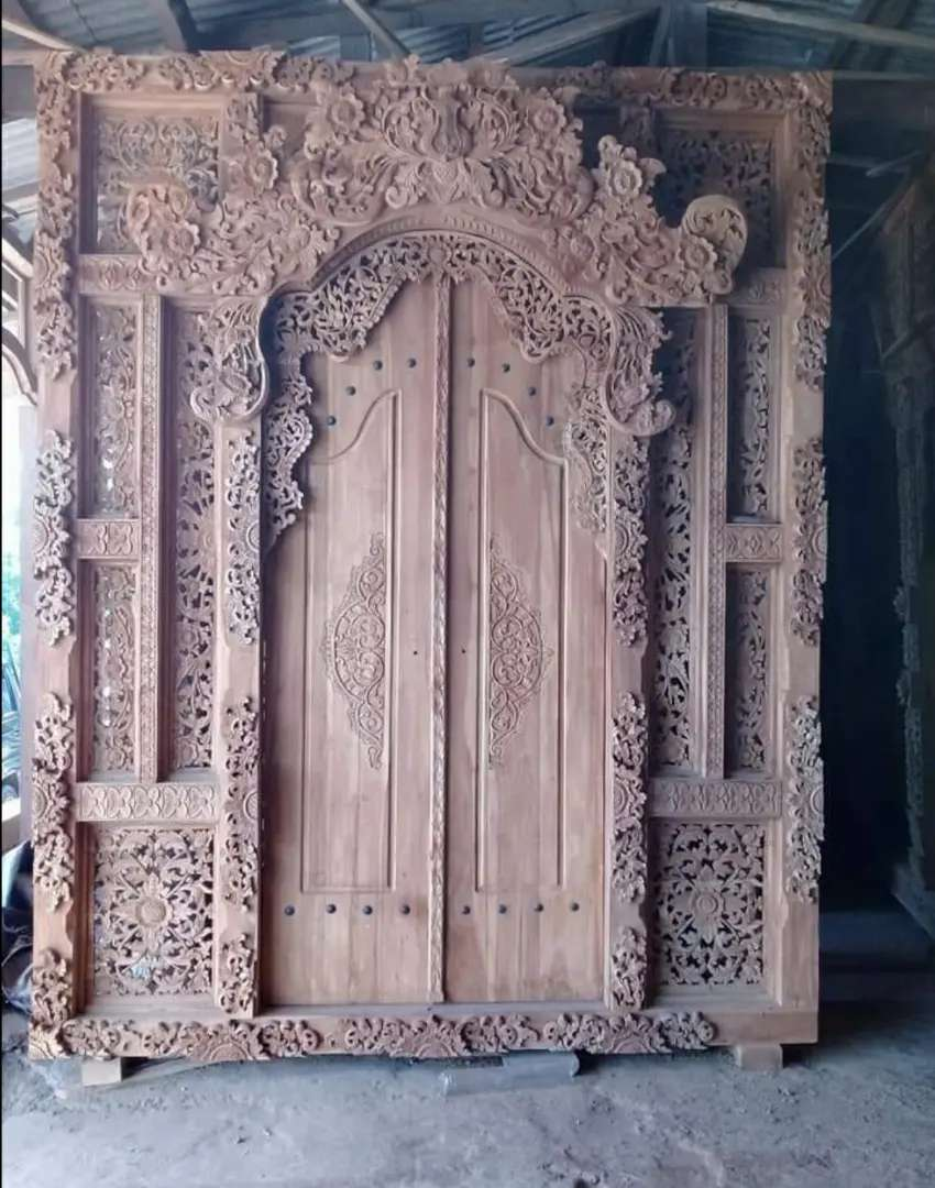 Cuci Gudang Pintu Gebyok Style Jawa Dan Bali 2 2.5 dan 3 meter lina