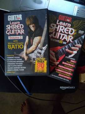 Two Guitar Learn Shred Guitar DVDs