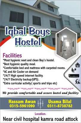 We have rooms in hostel