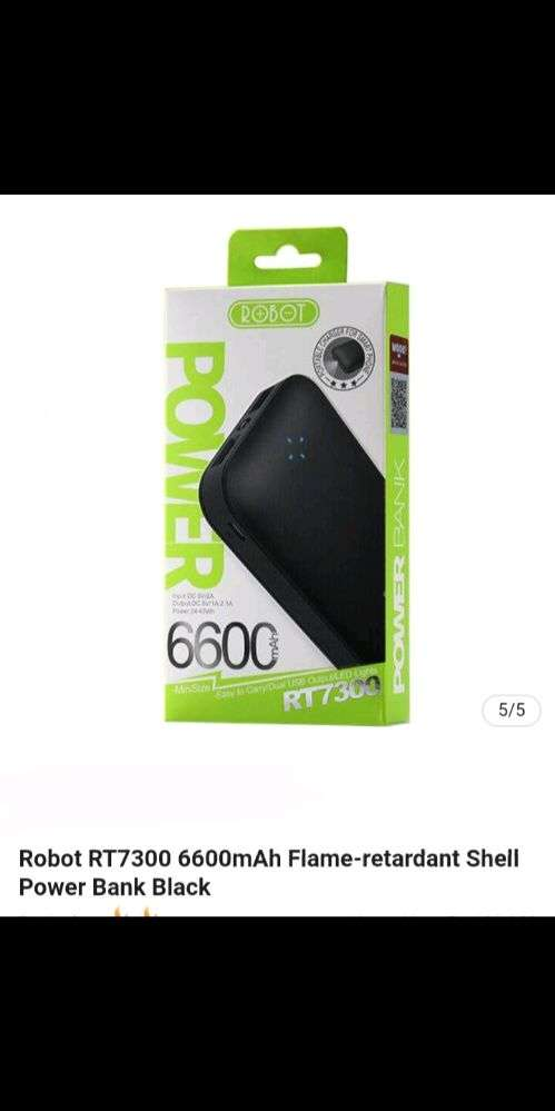 powerbank robot RT.7300(6600mah)real ori segel resmi vivan 0