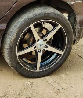 17 inch alloys having a low profile tyres
