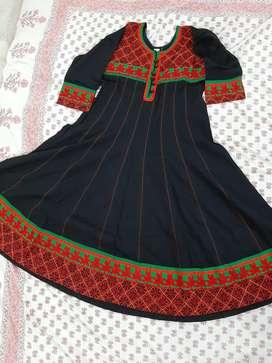 Beautifully Embroidered Black kurti