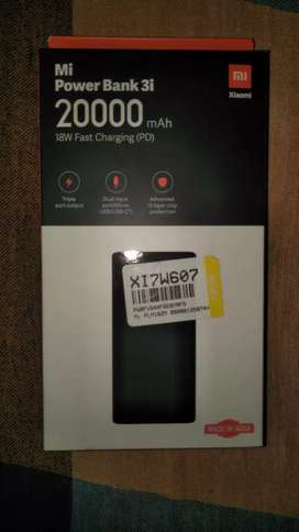 Mi 3i 20000 mAH Power Bank(Fast Charging