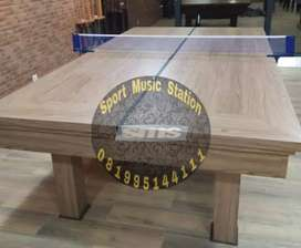Meja Billiard Biliard Bilyar 7Ft Marmer 3in1 Komplit Dengan Tenis Meja