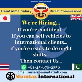 Place Vacant: Sales Executive for night shift
