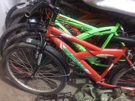 Second hand bicycles.