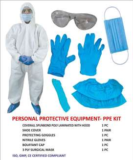PPE kits, 3 ply masks, Thermometers, Gloves, Senitizers