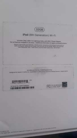 I pad 8th genration 32gb wifi only 20 days old new hai