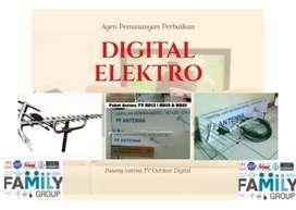 Jual antena tv digital + pemasangan lokasi dekat Rawalumbu