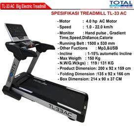 alat olahraga treadmil elektrik 4 hp tl 33 AC COD Cilacap