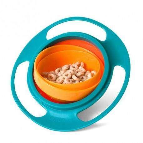 Mangkok Makan Anak Anti Tumpah Gyro Bowl Peralatan Makan Anak