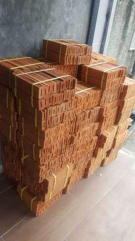 Bata tempel expose putih terakota tanah liat batu alam wallpaper murah