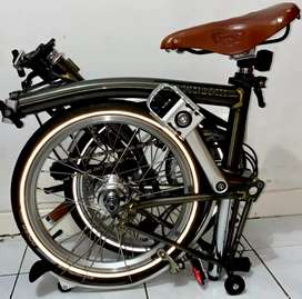 Sepeda Brompton S6L Raw Lacquer Limited