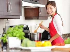 24/7 female cook maid job