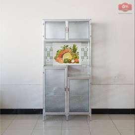 PROMO Rak Piring Pintu 3 Bahan Alumunium Anti Rayap