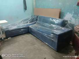 L shef sofa 7 seater(8x6) feet with canter tebal 2x3