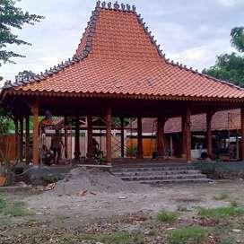 Pendopo & Rumah Adat Jawa Tengah Joglo dan Limasan Bahan Kayu Jati
