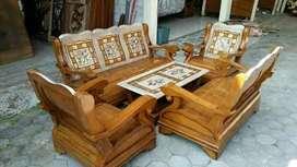 Kursi tamu kayu jati model banyak bisa pilih model