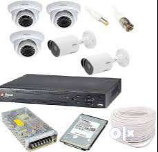 2.4mp 5 bullet cameras with night vision and installation-