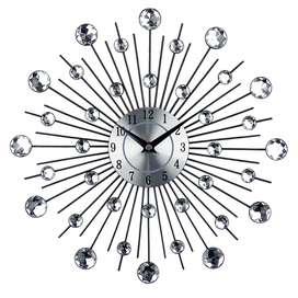 Jam Dinding 3D Quartz Creative Design Model Luxury Diamond