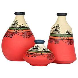Vintage Terracotta Pots/Eco Friendly Diwali Gifts/ Collectable Table