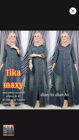 Gamis jeans maxy