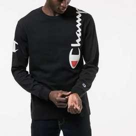 Champion long sleeve over the shoulder logo black
