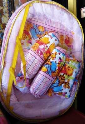 Set Kasur Bayi Kelambu Anti Nyamuk, Nyaman & Aman Untuk Bayi