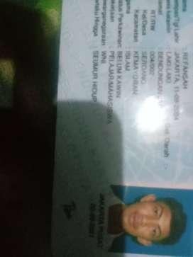 Nama:Refansah Jakarta 11 09 2004 laki laki bendungan jago RT 04/02