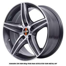 Velg Mobil Mercy, Wuling Cortez dll HAHARU HSR R17X8 H5X112 ET35 GMMF
