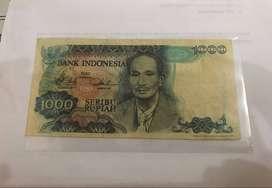Jual Uang Kuno 1.000 Dr. Soetomo Tahun 1980