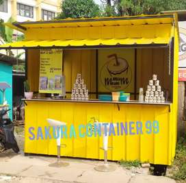 Container minuman, booth kedai, container thai tea, booth cafe