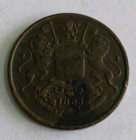 Antique coin of 1833