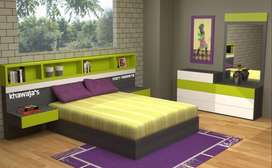 kids double bed with dressing ( khawaja's Fix price shop