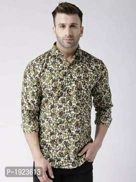 Men's printed pure cotton shirt