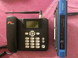 Wireless phone and Router