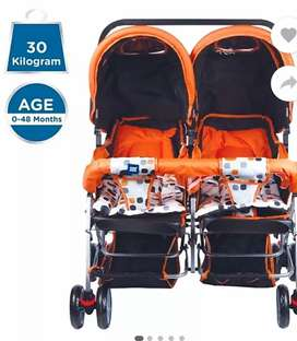 Twin Stroller - MeeMee twin baby pram with three sitting position