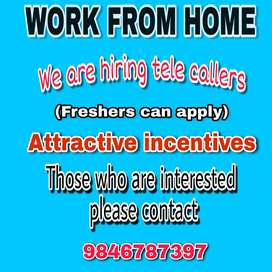 Hiring tele callers for admission