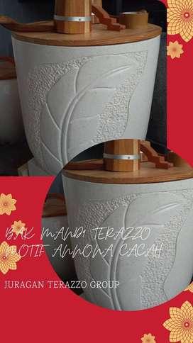Bak mandi terazzo type Annona unik T70